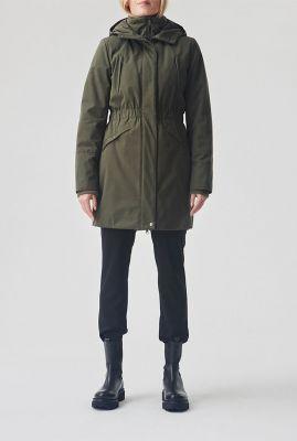 getailleerde winter jas met thermo voering en capuchon denise coat