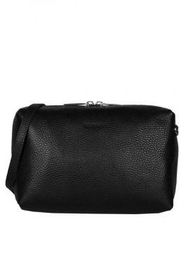 zwarte cross body tas met relief en dubbele rits my boxy bag 13570631