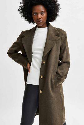 klassieke wolmix mantel jas new sasja coat noos 16079292