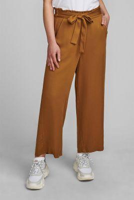 brons kleurige paperbag broek nubronte toyon pants 7420601