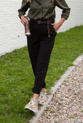zwarte pantalon met plooi details numelisade pant 7520616