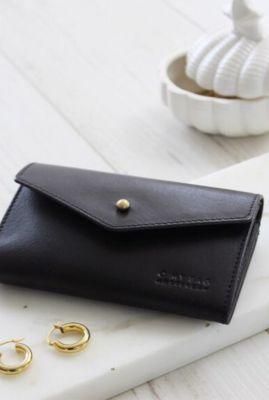 zwarte portemonnee met pin sluiting jo's purse omb-e052cv2
