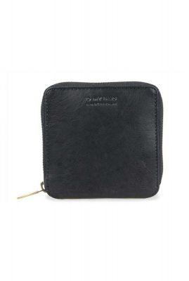 zwart eco leren portemonnee met ritssluiting omb-e122cs