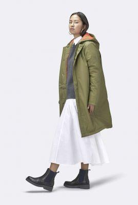 half lange gevoerde en waterdichte winterjas padded coat  1511