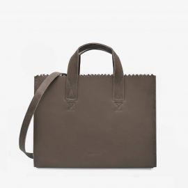 my paper bag donker grijze leren handtas cross-body 10671381