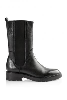 zwarte hoge chelsea boots met elastische band Ines