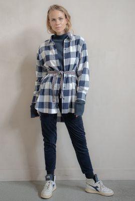 oversized blouse met ruiten dessin w20w289