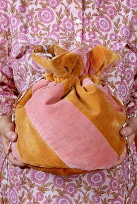 fluwelen gewatteerde tas met strepen nova xl multibag
