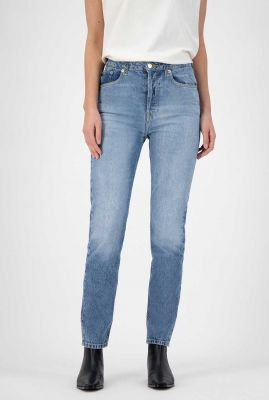lichte straight fit jeans van biologisch katoen piper straight
