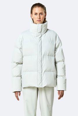 witte waterafstotende jas boxy puffer jacket 1522
