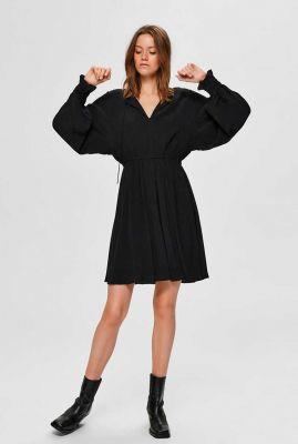 zwarte jurk met v-hals riyanka-vienna dress 16075664