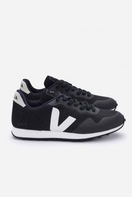 zwarte sneaker van mesh sdu rt black natural RT011346