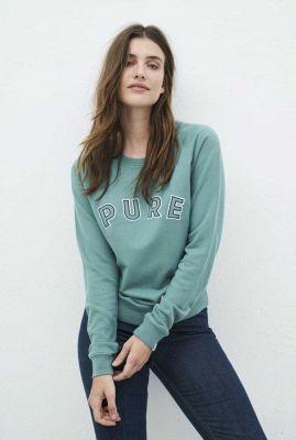 zachte sweater met pure tekst ruby pure sweater 202178