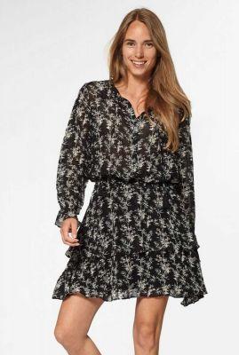 gelaagde viscose jurk met bamboe print gaby s20.108.7480
