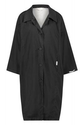 zwarte oversized jas met knopen s20w232