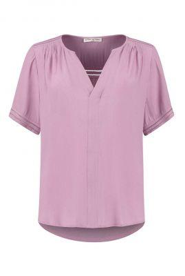roze viscose top met opengewerkte details cristy s21.89.1404