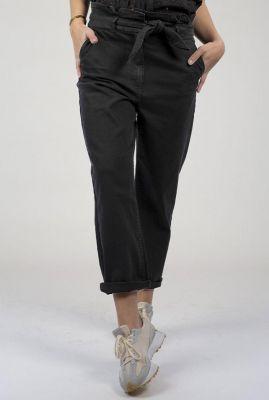zwarte broek met strikceintuur julia pants s21.18.1044