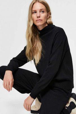 zachte zwarte trui van merino wol sandra ls knit 16076250