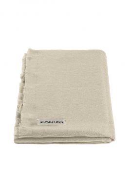 zachte beige kleurige sjaal van alpaca wolmix beige scarf