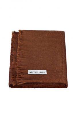 donker bruine sjaal van alpaca wolmix chocolate brown scarf