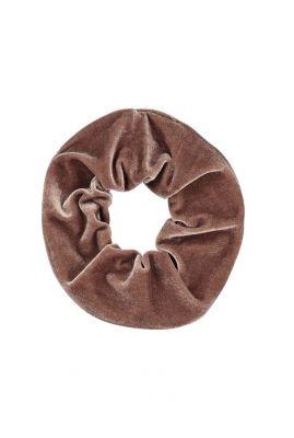bruin fluwelen haar elastiek  scrunchie emilie