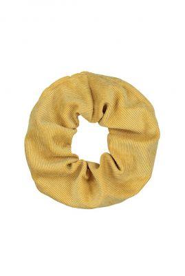 geel rib dessin haar elastiek  scrunchie josje