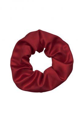 rood satijnen haar elastiek  scrunchie kathleen
