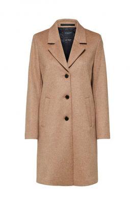 half lange wollen jas sasja wool coat noos 16064571