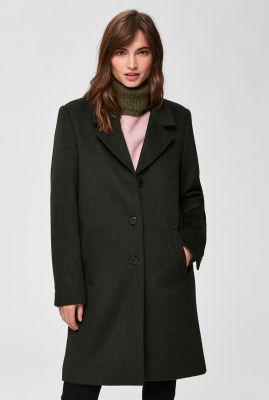 klassieke jas van wolmix met reverskraag  sasja noos