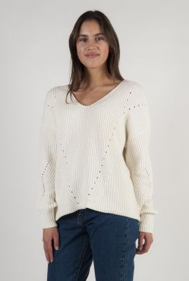 crème kleurige trui met ajour details shellia
