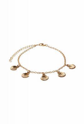 gouden enkelband met schelpen bedels shells anklet