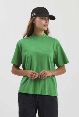 groen t-shirt met opstaande kraag siella 2194
