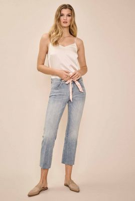 lichte high waist flared jeans met strik detail simone swift 137230