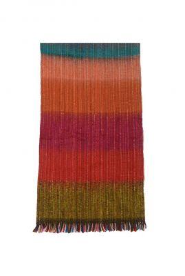 multi colour gebreide sjaal van alpaca wolmix brushed grande sm1202