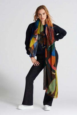 grote sjaal met gekleurde print artist palette sp6651