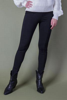 zwarte legging met rits details sofia split legging SR221-300