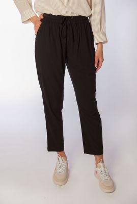 zwarte broek met elastische taille katrina ankle pant SR320-743