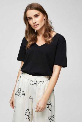 basis t-shirt met v-hals standard ss v-neck tee 16065132 standard noos