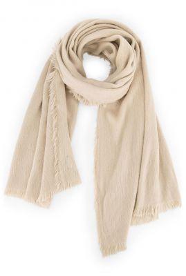 zachte ecru kleurge sjaal stormie scarf w20.123.1456