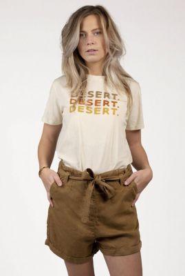 beige t-shirt met desert opdruk suri tee s21.77.1018