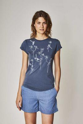 blauw t-shirt met grafische print meisen denim blue 32261