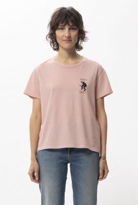 licht roze cropped t-shirt van katoen lisa night shift 131745
