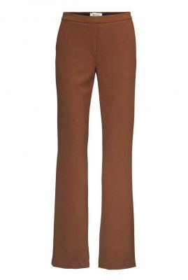 bruine pantalon met wijde pijpen tanny flare mocha