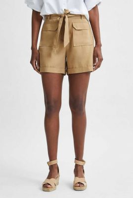 olijf kleurige short van lyocell taylor pocket shorts 16079008