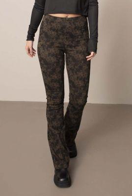 comfortabele flared legging met all-over print nora flair legging