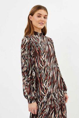 blouse met gekleurde grafische print  thoraline 9058
