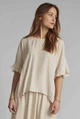 viscose top met stippen dessin nucourtney blouse 700369