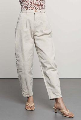 off white balloon broek met high waist tr christy