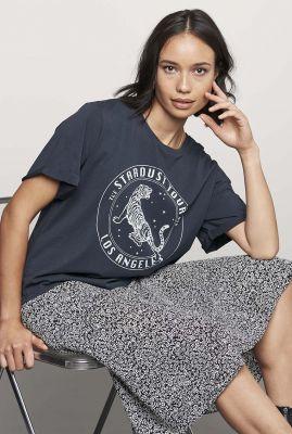 donker grijs katoenen t-shirt met lichte opdruk ts dawn