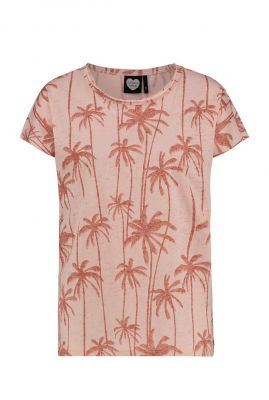 t-shirt met burn out effect en all-over print ts palm for days